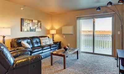 Living Room, Sidney Apartments, 1