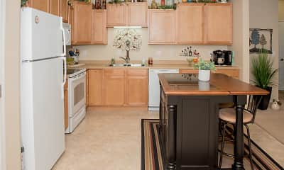 Kitchen, Crossing at Waters Edge 55+ Independent Living Community, 1