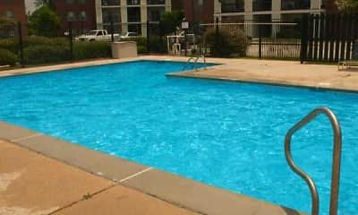 Pool, Hidden Oaks Apartments, 1