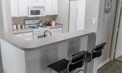 Kitchen, Colts Run Apartments, 1