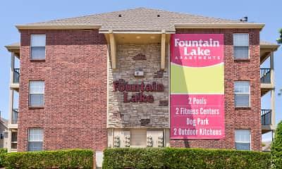 Community Signage, Fountain Lake, 2