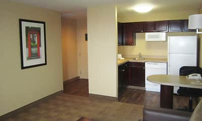 Kitchen, Furnished Studio - Dallas - Las Colinas - Green Park Dr., 1