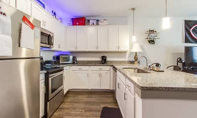 Kitchen, Archer Apartments, 1