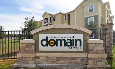 Community Signage, The Domain At Waco Student Apartments, 2