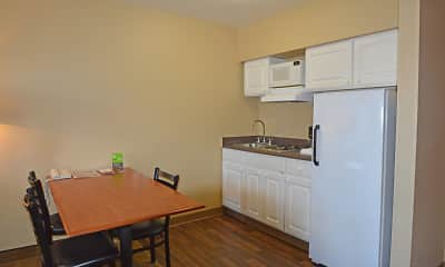 Kitchen, Furnished Studio - Anchorage - Midtown, 1