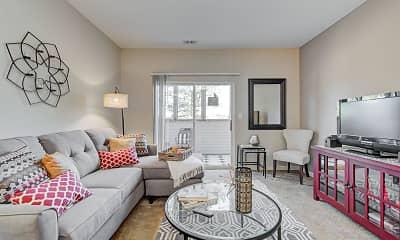Living Room, Washington Village Apartments, 1