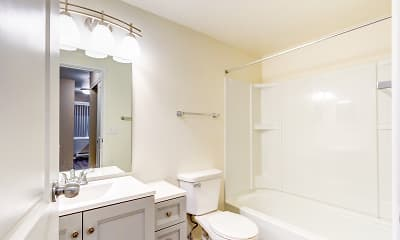Bathroom, Park Downs Apartments, 2