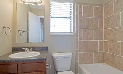 Bathroom, Deer Wood Apartments, 2