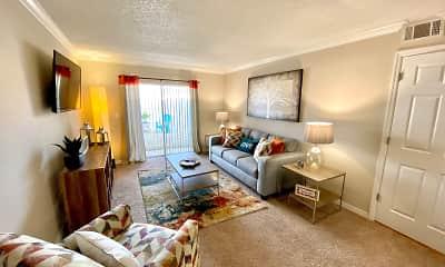 Living Room, Park Village Apartments, 0