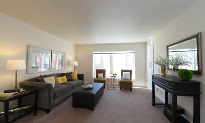 Living Room, Colonial Court Apartments, 1