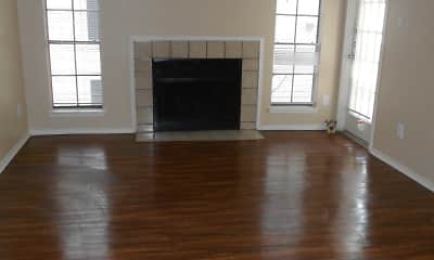 Living Room, Ridgeway Apartments, 1