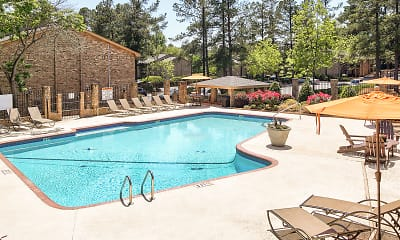 Pool, Woodcrest Apartments, 2