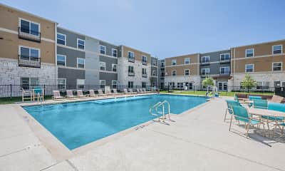 Pool, Commons at Manor 55+, 2