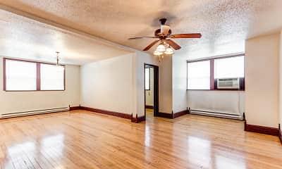 Living Room, Jackson Apartments-Downtown Fargo, 0