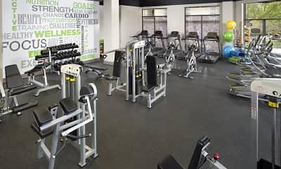 Fitness Weight Room, Camden Midtown Atlanta, 2