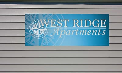 Community Signage, West Ridge Apartments, 2