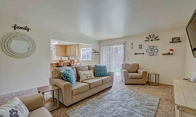 Living Room, Gateway Apartments, 1