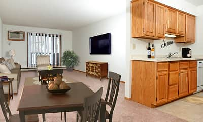 Dining Room, Woodstone Apartments, 0