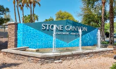 Community Signage, Stone Canyon, 2
