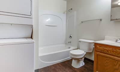 Bathroom, Golden Domes Apartments, 2