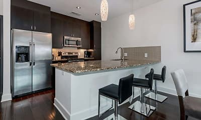 Kitchen, 1045 on the Park Apartment Homes, 1