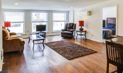 Living Room, Downtown Pearl & Pine Luxury Apartments, 1