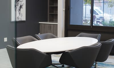 Dining Room, Rivergate Apartments, 1