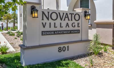 Community Signage, Novato Village Senior Apartments, 0