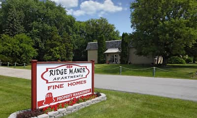 Community Signage, Ridge Manor Apartments, 0