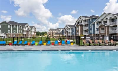 Pool, Adams Village Apartments & Townhomes, 1