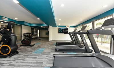 Fitness Weight Room, Alden Apartment Homes, 1