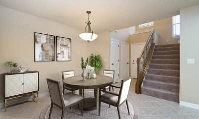 Dining Room, 15th Place Townhomes, 1