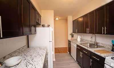Kitchen, Evergreen Meadows Apartments, 1