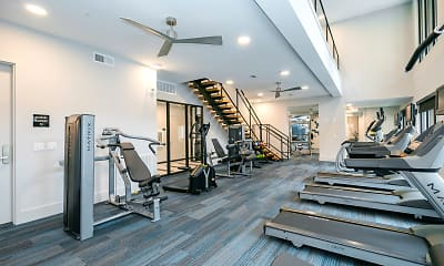Fitness Weight Room, Cue Galatyn Station, 1