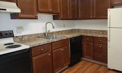 Kitchen, Chateau Perry Apartments, 2