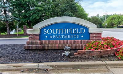 Community Signage, Southfield Apartments, 2