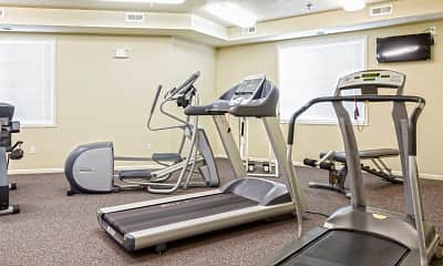 Fitness Weight Room, Crossing at Waters Edge 55+ Independent Living Community, 2