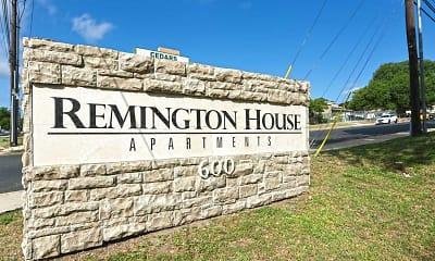 Community Signage, Remington House, 2