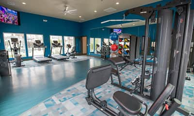 Fitness Weight Room, Bend @New Road, 2