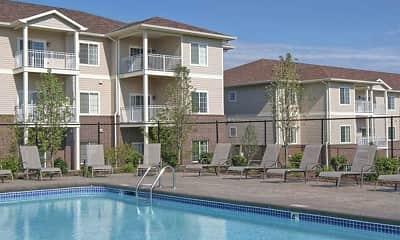 Pool, Elk Hills Apartments, 1
