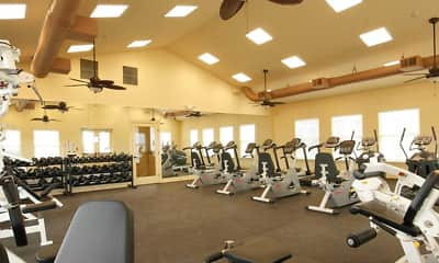 Fitness Weight Room, Meridian Crossing Condo-Style Apartments, 2