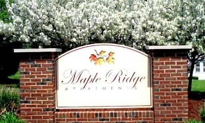 Community Signage, Maple Ridge Apartments, 0