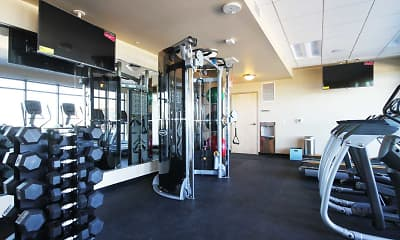 Fitness Weight Room, Venture Luxury High Rise, 2
