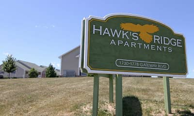 Community Signage, Hawk's Ridge Apartments, 1