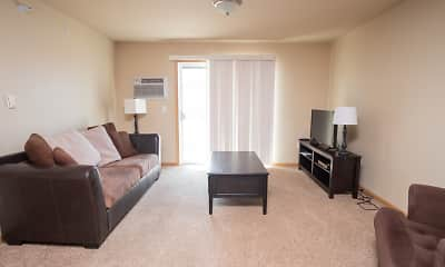 Living Room, Stanley ND Apartments, 1