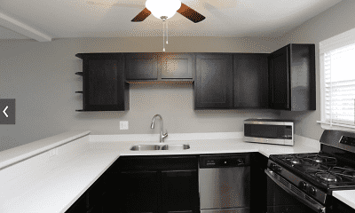 Kitchen, Warwick Court Townhomes, 1