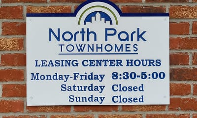 Community Signage, North Park Townhomes, 2