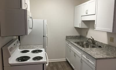 Kitchen, Oakwood Apartments, 1