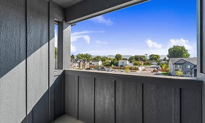 Patio / Deck, Fairview Apartments, 2
