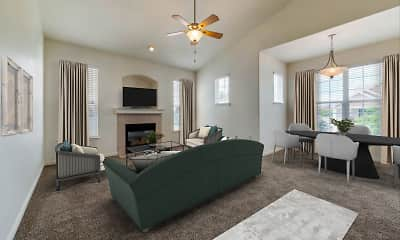 Living Room, Eagle Ridge Apartment Homes, 2